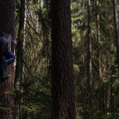 Wspinaczka na leziwie, okolice Augustowa. Fot. P. Mikucki